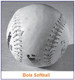 Ukuran bola permainan softball