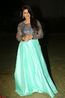 Nikki Galrani in Green Skirt  Top at Marakathamani music launch ~  Exclusive (154).JPG