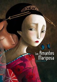 Portada del libro Los Amantes Mariposa escrito e ilustrado por Benjamin Lacombe