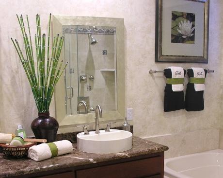 Plantas naturales en el baño