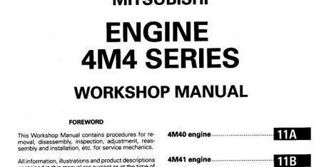 mitsubishi 4m41 workshop manual