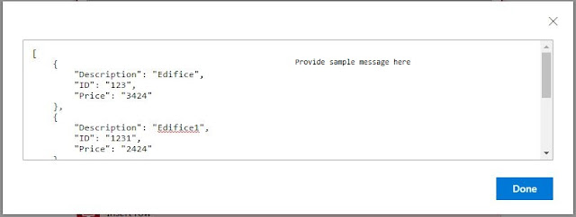provide sample for schema
