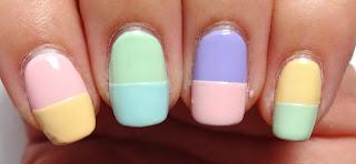 Dual Color Nails
