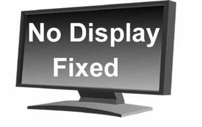 कंप्यूटर में display नहीं आ रहा है