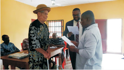 Ibiaku Ikot Usen Monarch swears in Village Council Youth President …Charges youths on respect to constituted authority