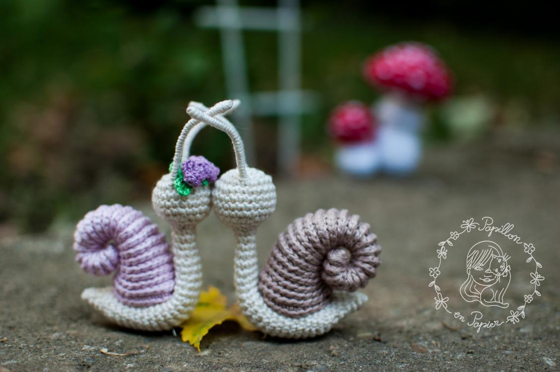 Papillon En Papier Snails And Mushrooms Free Amigurumi Patterns