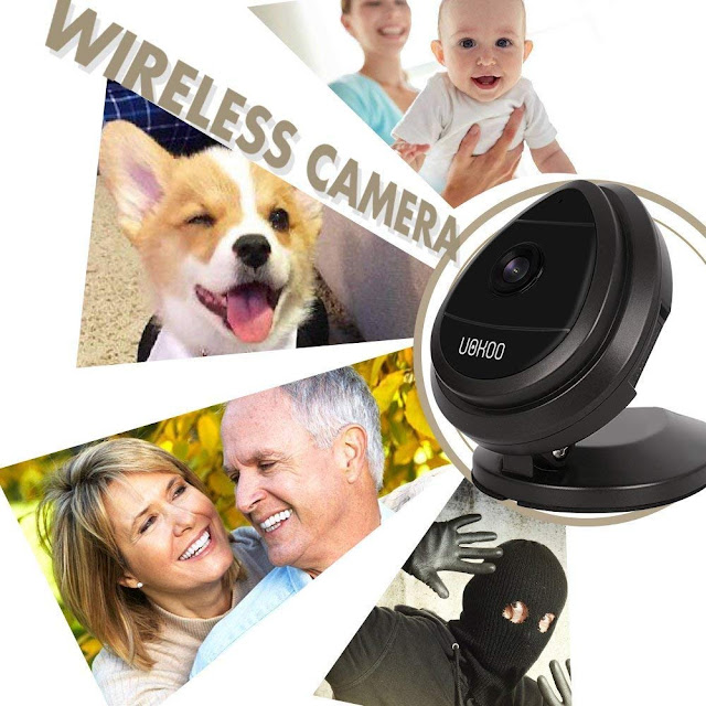 Security Camera, Mini IP Camera with Night Vision 720P HD Home WiFi Wireless Security Surveillance Camera System with Motion Email Alert/Remote Monitoring (Black)