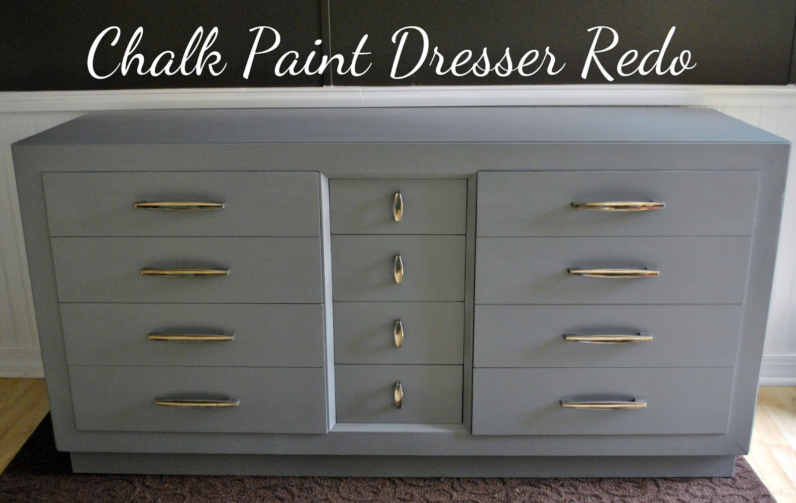 Life With 4 Boys DIY Chalk Paint Dresser Redo