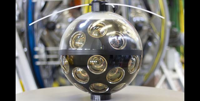 KM3NeT Digital Optical Module (DOM) in the laboratory. Credit: km3net.org