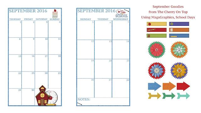 free planner inserts for September