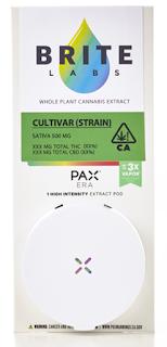 Brite Labs Printed PAX Label