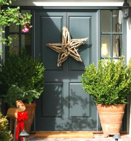 Christmas front door star