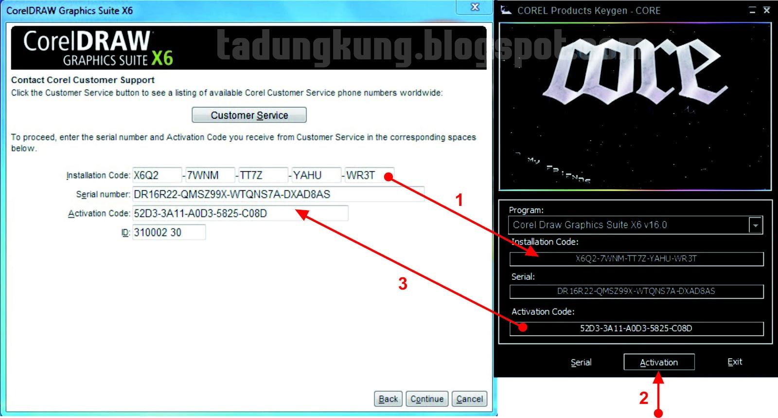Code corel draw x6 | CARA AKTIVASI X6 (SERIAL NUMBER
