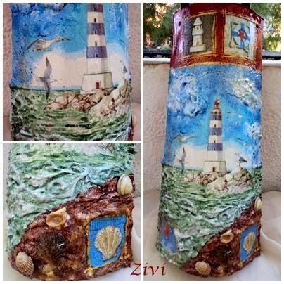 El Rinconcito de Zivi: tejas decoradas con decoupage