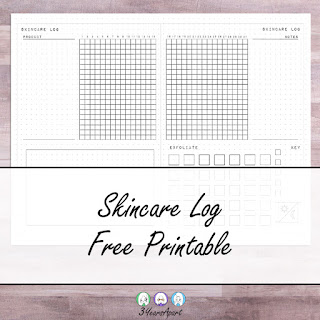 3 Years Apart Skincare Log Tracker Free Printable