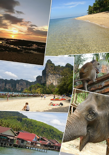 Collage photo de la Thaïlande