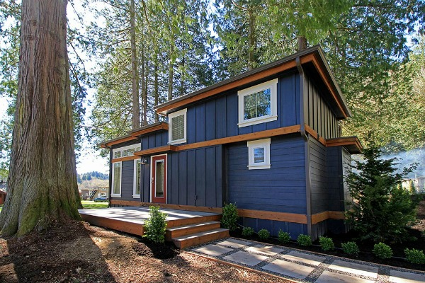 Beautiful exterior of a tiny Home