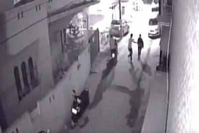 CCTV: Men on Scooter molest Woman!