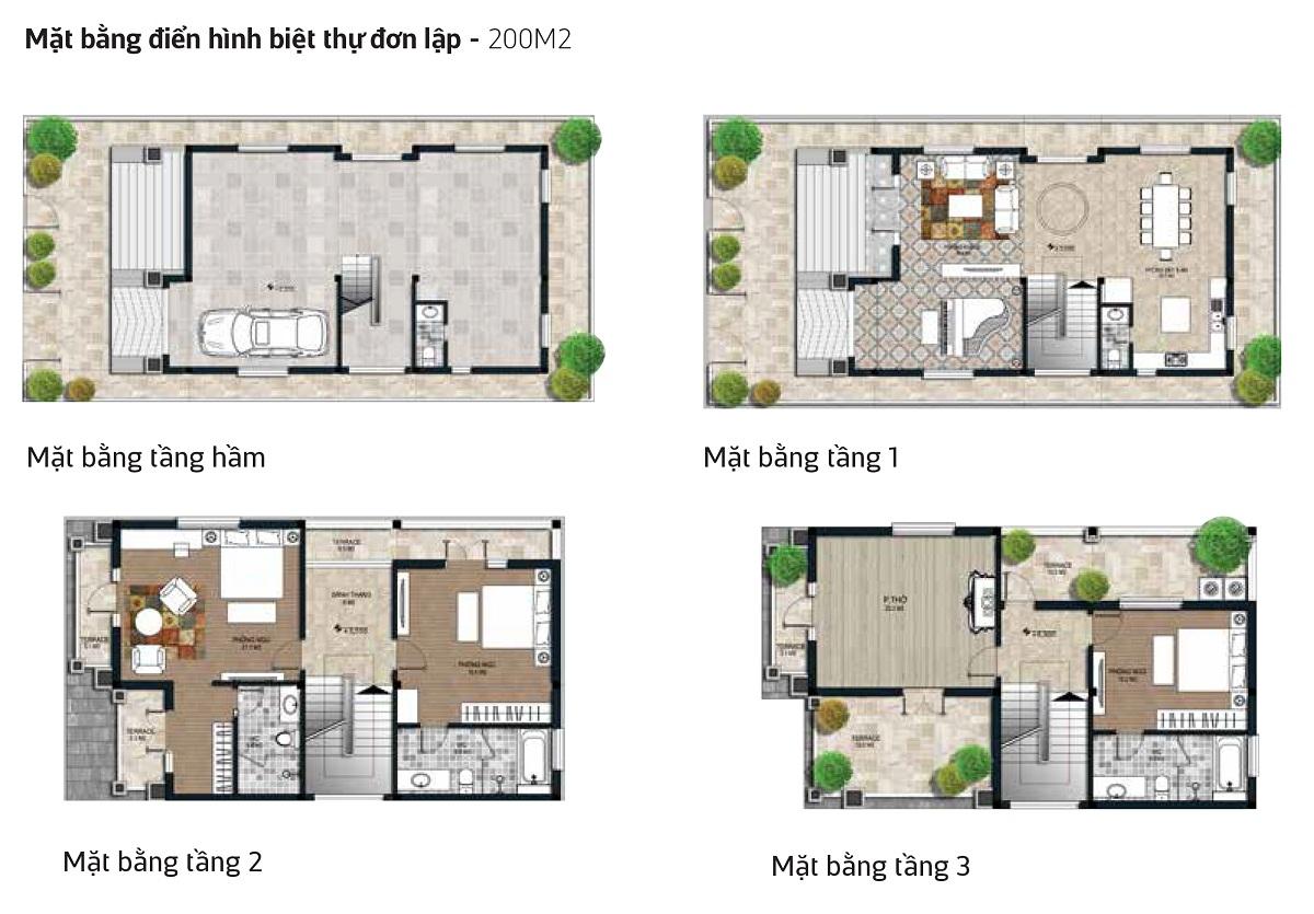 Mẫu thiết kế Biệt Thự Đơn Lập Tây Nam Kim Giang