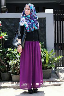 Gambar Model Hijab Street Style Ala Korea