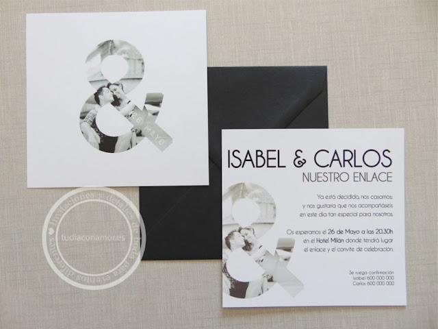 Invitaciones de boda personalizadas con foto