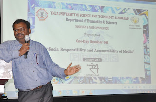 one-day seminar on 'Social Responsibility and Accountability of Media at YMCA university faridabad