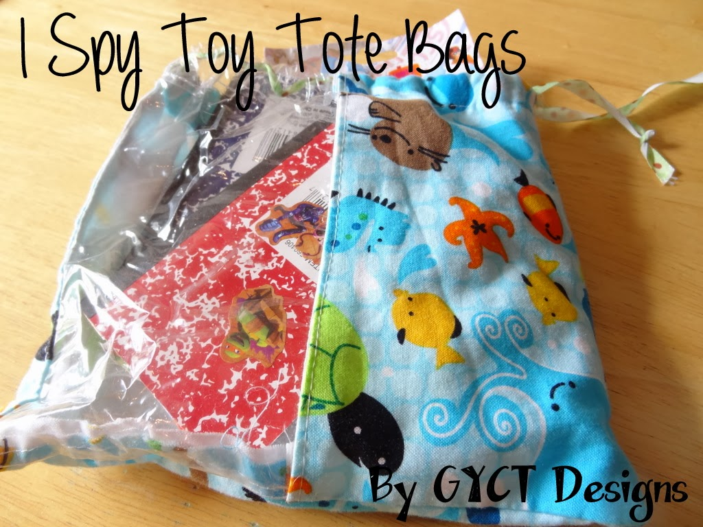 I Spy Toy Tote Bags PDF Pattern