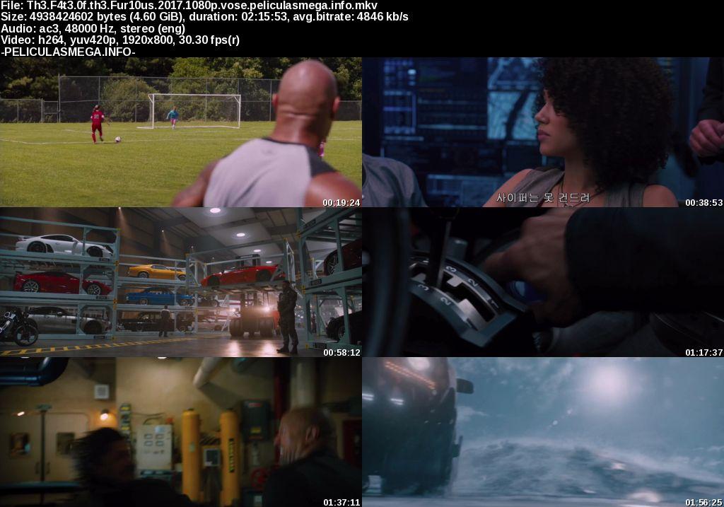 Descargar The Fate of the Furious Subtitulado por MEGA.