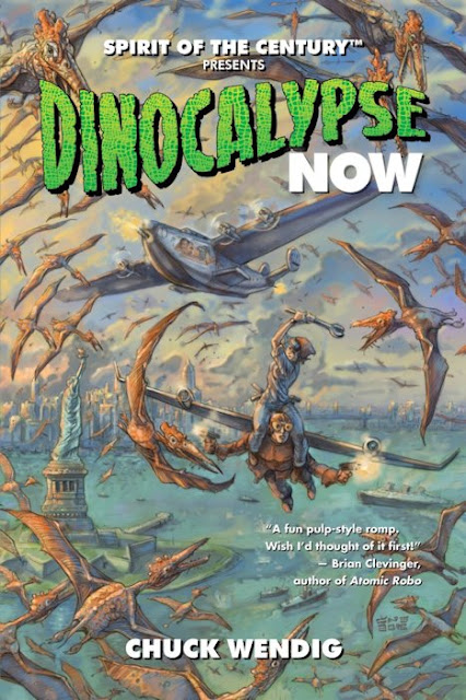 Review - Dinocalypse Now by Chuck Wendig- 5 Qwills