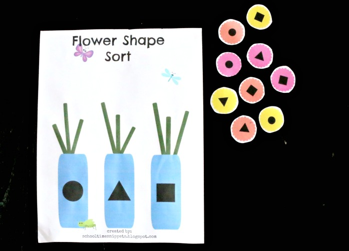 shape sort for preschoolers