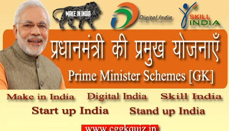 Indian Prime Minister- Narendra Modi Scheme of India Gk in Hindi | Indian Gk Questions in Hindi