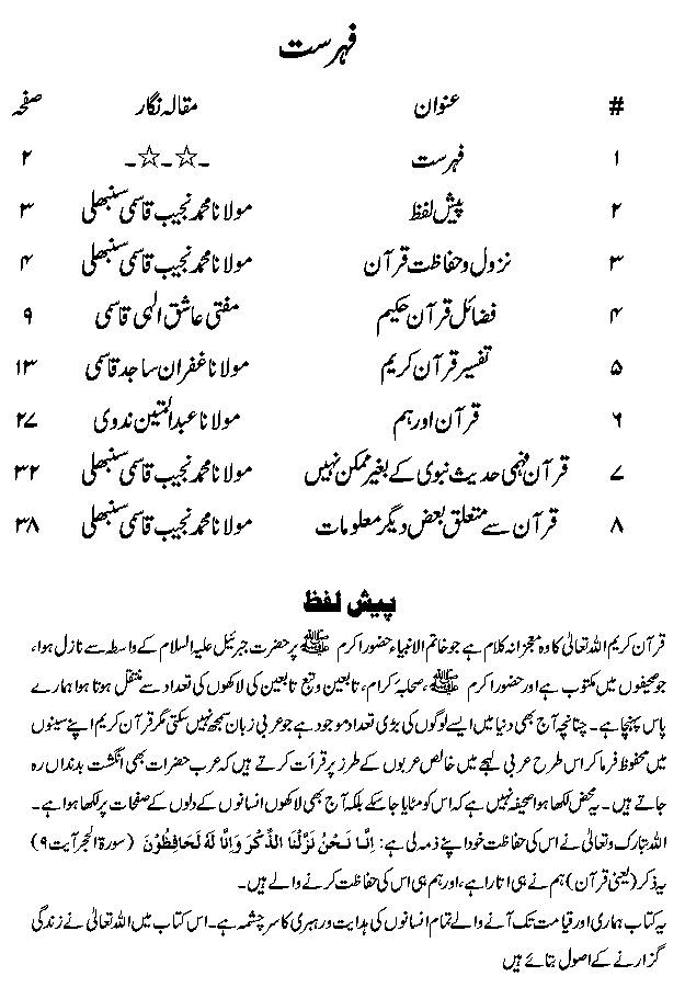 Knowledge About Quran in Urdu PDF