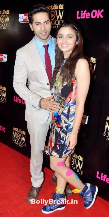 Varun & Alia grace the 'Big Life OK Now Awards 2014', Alia Bhatt Hot Pics from Like Ok Awards Red carpet with Varun Bhatt