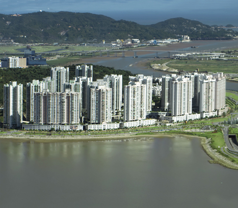 The Ocean Gardens Community Is On North S Of Taipa Island Macau In Picture Above Flats To Left Bridge Now Cotai Strip