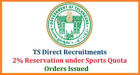 GO MS No 5  2% Reservation to Sports Persons in Direct Recruitments Govt of Telangana  Department - Increase of Sports reservations of two percent (2%) to meritorious Sportspersons in Direct Recruitment to various posts in Government Departments/Undertakings/grant–in-aid Institutions at all levels – Amendment - Notified – Orders - Issued. go-ms-no-5-2percent-reservation-to-sports-persons-govt-direct-recruitments-telangana