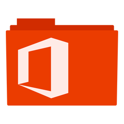 Microsoft Office 2013 logo folder icon