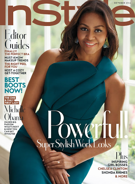 African-American First Lady, @  Michelle Obama for InStyle US October 2016
