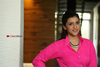 Actress Mannar Chopra in Pink Top and Blue Skirt at Rogue movie Interview  0220.JPG