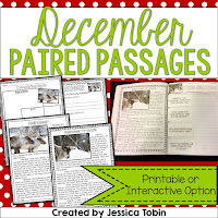 Christmas Paired Passages- How I survived my emergency Christmas sub plans