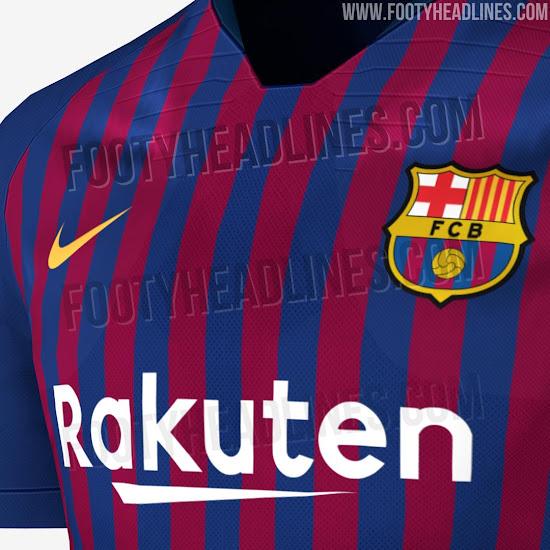 Nike FC Barcelona 18-19 Home Kit Leaked + Away & Third Kit