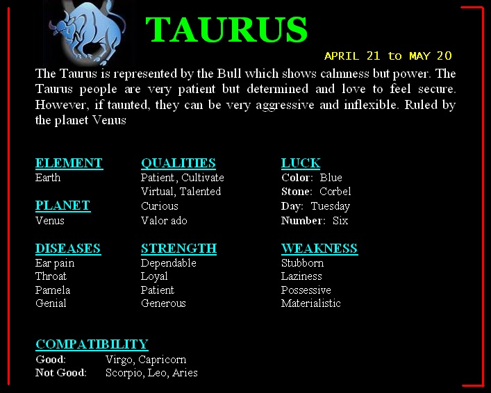 TAURUSbmp 707×566 pixels Alliforne Pinterest Taurus - create the perfect resume
