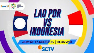 Jadwal Timnas Indonesia vs Laos - Asian Games 2018 Live SCTV