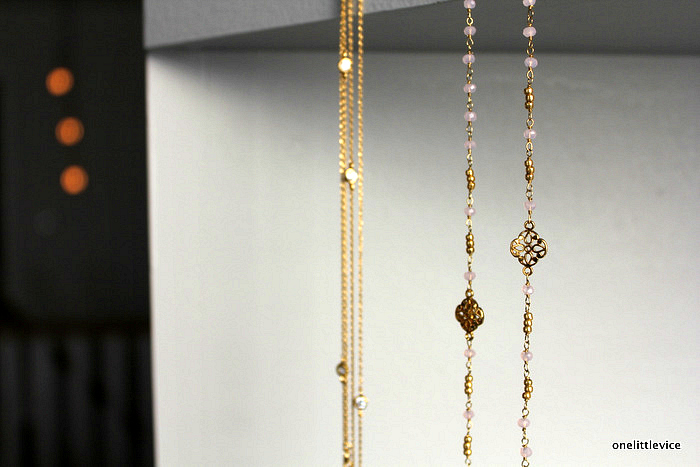 one little vice lifestyle blog: gold plated highstreet budget necklaces