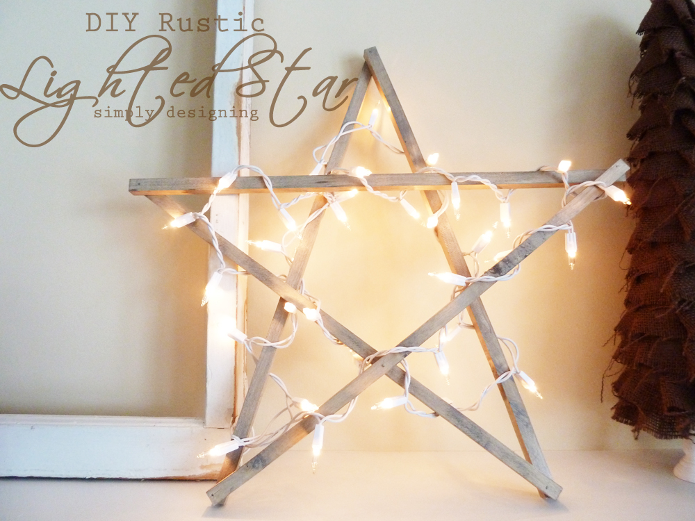 DIY Rustic Lighted Star | simple to create rustic star!  perfect for holiday, Christmas or New Year's decor! | #diy #crafts #holiday #christmas