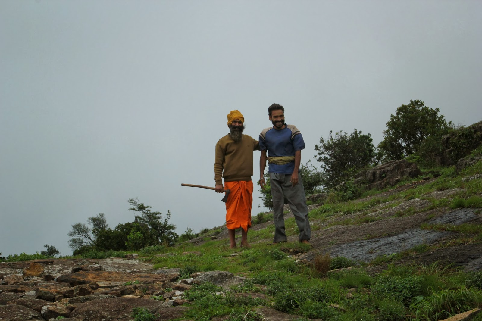 Babaji and suresh on Mahendragiri