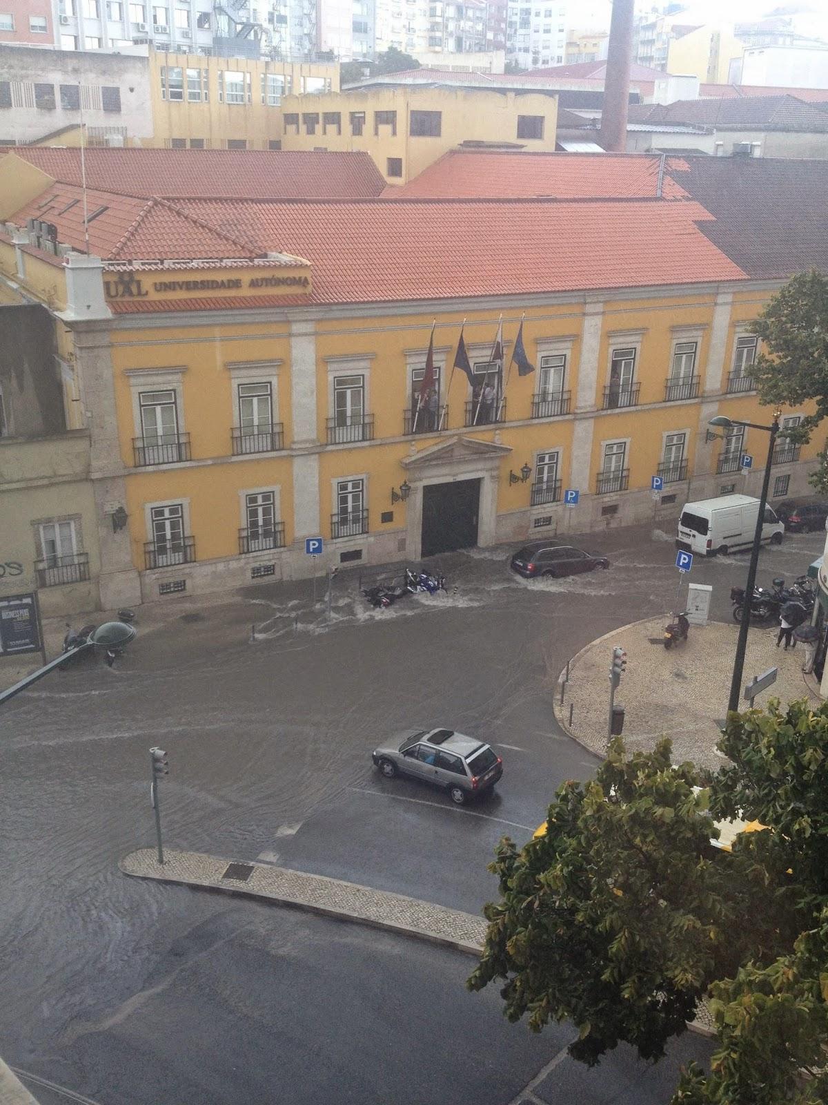 6fe28719765ec Em frente à Assembleia da República podia fazer-se mergulho.