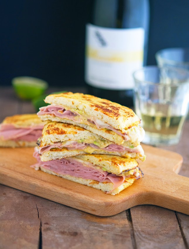 Cauliflower Crust Mortadella and Cheese Panini