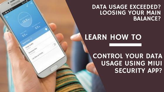 Control Data Usage Banner