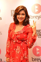 Mannara Chopra in deep neck Short red sleeveless dress Cute Beauty ~  Exclusive Celebrities Galleries 073.JPG