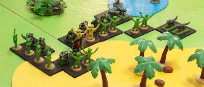 orcs vs green + yellow creatures